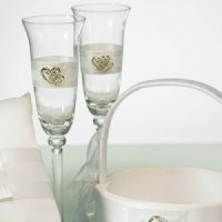 Double Heart Toasting Glass Set