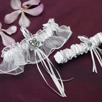 Double Heart Two Piece Garter Set
