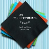 It's Showtime Personalized Napkins (25 Colors)