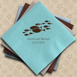 Of All the Fish in the Sea Personalized Napkins (25 Colors) image