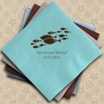 Of All the Fish in the Sea Personalized Napkins (25 Colors)