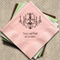 Elegant Chandelier Personalized Napkins (25 Colors)