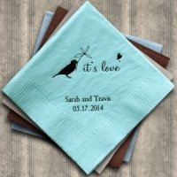 Whimsical Garden Personalized Napkins (25 Colors)