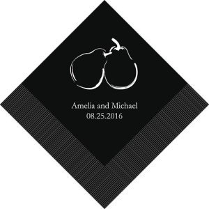 Perfect Pair Personalized Napkins (25 Colors) image