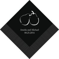 Perfect Pair Personalized Napkins (25 Colors)