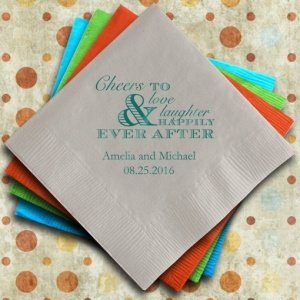 Cheer Personalized Napkins for Wedding Receptions image