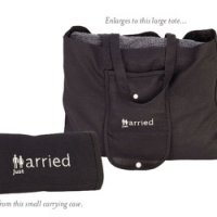 'Just Married' Collapsible Tote Bag