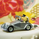 Just Married Get-a-way Car Figurine
