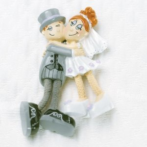 Dangly Leg Bride & Groom Magnet Wedding Favors image