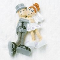 Dangly Leg Bride & Groom Magnet Wedding Favors