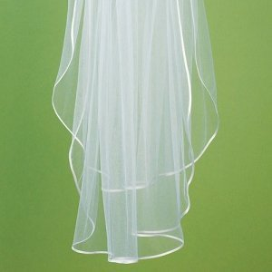 Satin Ribbon Edge Veil image
