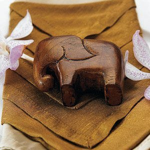 Miniature 'Good Luck' Wooden Elephants (Set of 4) image