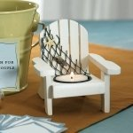 Wooden Deck Chair Tealight Holders (Set of 4)