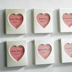 Magnet Back Mini Heart Photo Frames (Set of 3)