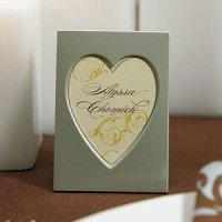 Mini Easel Back Aluminum Heart Photo Frames (Set of 4)