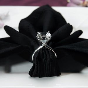 Silver Plated 'Diamond' Napkin Ring image