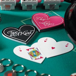 Heart Shaped Wedding Favor Playing Cards - 2 Designs image