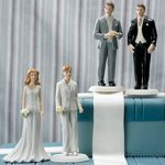 Fashionable Couple Mix and Match Wedding Cake Toppers