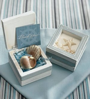 Beach Theme Wooden Box (Set of 12) image