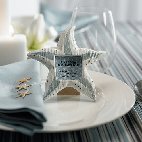 Wooden Starfish Picture Frames Favors Set Of 8
