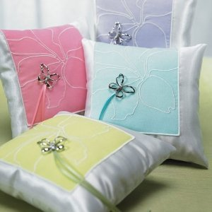 Butterfly Garden Dreams Ring Bearer Pillows image