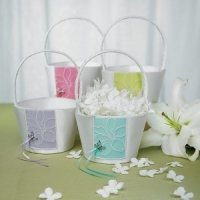 Butterfly Garden Dreams Flower Girl Basket