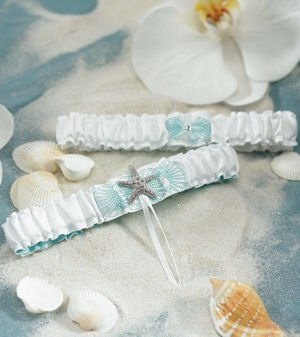 Seashell and Sand Two Piece Garter Set image