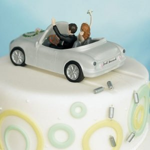 Happy Couple Car Cake Topper image