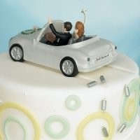 Happy Couple Car Cake Topper