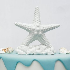 Beach Starfish Wedding Cake Topper image