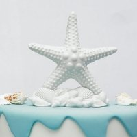 Beach Starfish Wedding Cake Topper