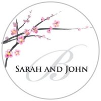 Personalized Cherry Blossom Stickers