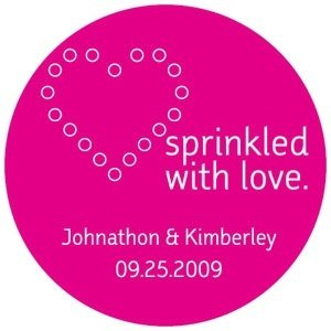Personalized Sprinkled with Love Stickers (Many Colors) image