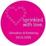 Personalized Sprinkled with Love Stickers (Many Colors)