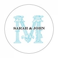 Personalized Ornamental Baroque Stickers