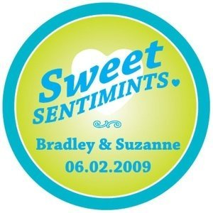 Personalized Round 'Sweet Sentimints' Stickers image