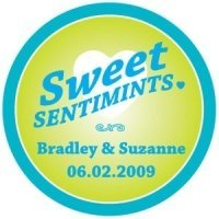 Personalized Round 'Sweet Sentimints' Stickers