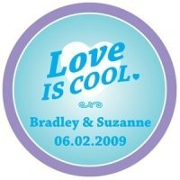 Personalized 'Love is Cool' Stickers