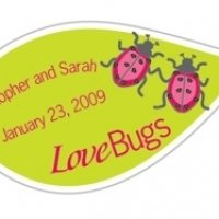 Personalized 'Love Bugs' Stickers