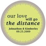 'Our Love Will Go the Distance' Custom Stickers