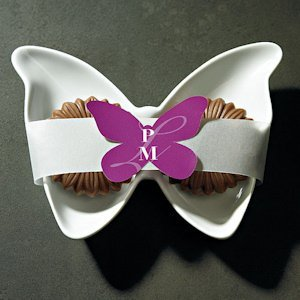 Butterfly Shaped Stickers with Custom Initials (16 Colors) image