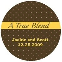 'A True Blend' Custom Stickers