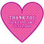Heart-Shaped Personalized Thank You Stickers