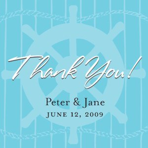 Personalized Nautical Favor Tags (Set of 20) image