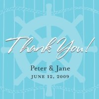 Personalized Nautical Favor Tags (Set of 20)