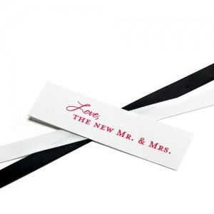 'Love - the New Mr. & Mrs.' Favor Cards (Set of 20) image