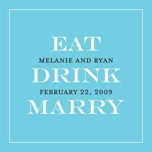 Personalized Eat - Drink - Marry Favor Tags (20 Pack) image
