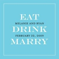 Personalized Eat - Drink - Marry Favor Tags (20 Pack)