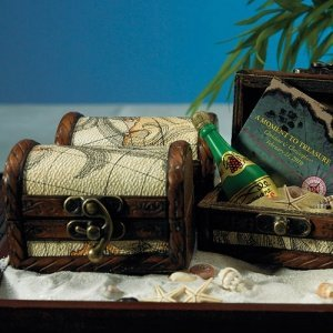 Miniature Treasure Chest Favor Boxes (Set of 6) image