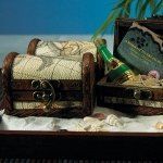 Miniature Treasure Chest Favor Boxes (Set of 6)